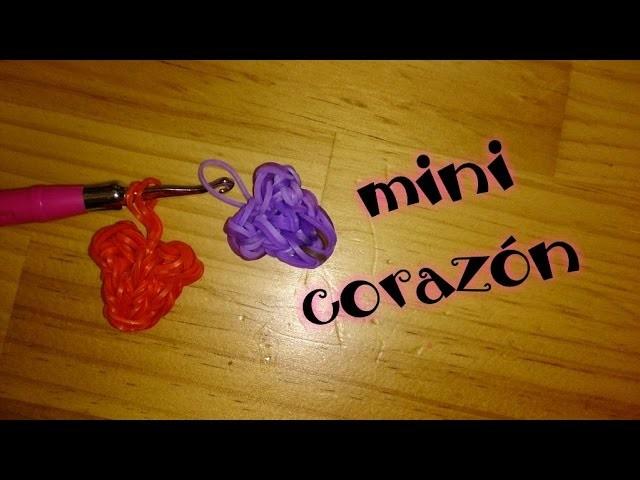 Corazón de gomitas con telar. coeur. heart. rainbow loom