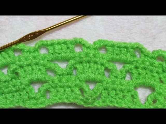 Crochet (Ganchillo) paso a paso punto fantasía para principiantes - Muy Facil!!
