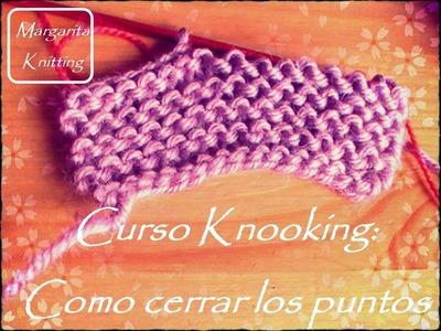 Curso Knooking: como cerrar los puntos (zurdo)