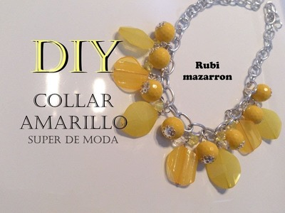 Diy. Collar de moda amarillo