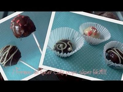 Dos formas de hacer CAKE POPS!