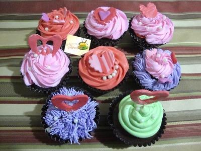 Ideas para decorar cupcakes para el dia de san Valentin Parte 3.3 - La receta de la abuelita