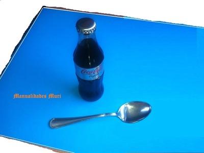 Manualidades, Como abrir una botella de Coca cola con una Cuchara.