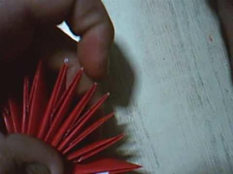 Origami 3d flor con hojas