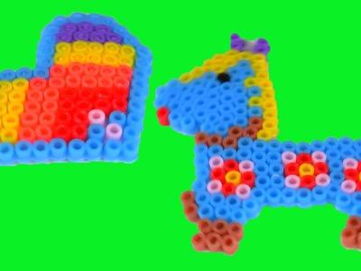 Panda Corazón Pescado Caballo Perler Beads Mosaic
