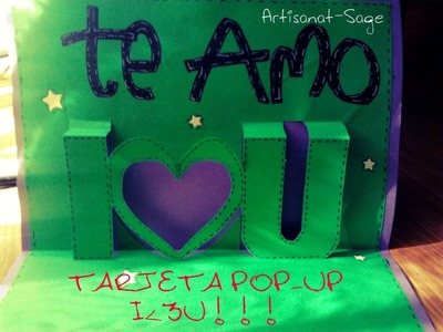 TARJETA POP-UP I♥U REGALO ORIGINAL