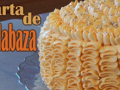 Tarta de calabaza con nueces, pasas y canela :: Receta pastel fácil de hacer