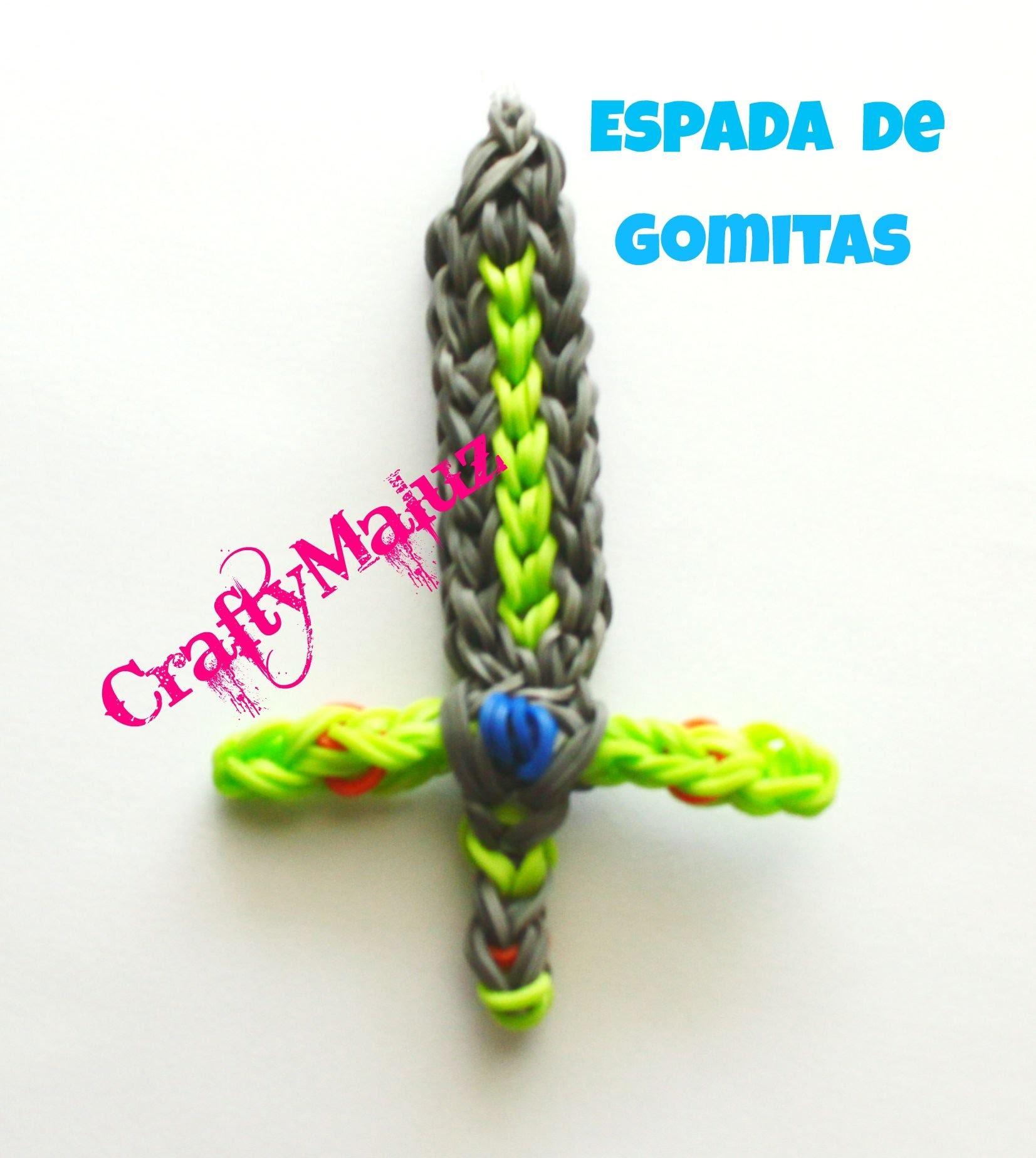 Tutoriales: Rainbow Loom Sword Charm. Espada de Gomitas con telar