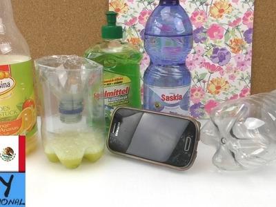 Alternativas de uso para: botellas de plástico -  ideas para hacer manualidades