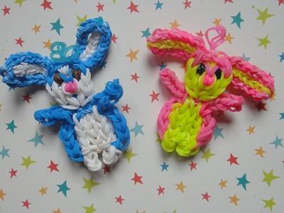 Conejo de gomitas con telar Rabbit on rainbow loom