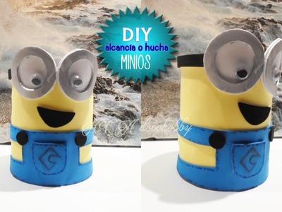 DIY hucha o alcancía de minios. manualidades para niñ@s . cumpleaños
