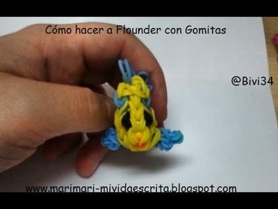 DIY Rainbow Loom Flounder de La Sirenita ¡en español!