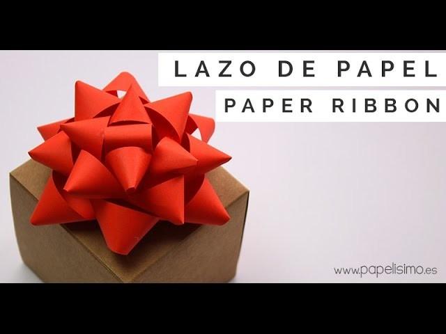 Lazo de papel para envolver regalos: Manualidades con papel