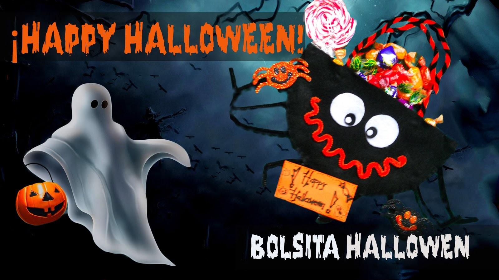 Manualidades para Halloween - Bolsita de Arana