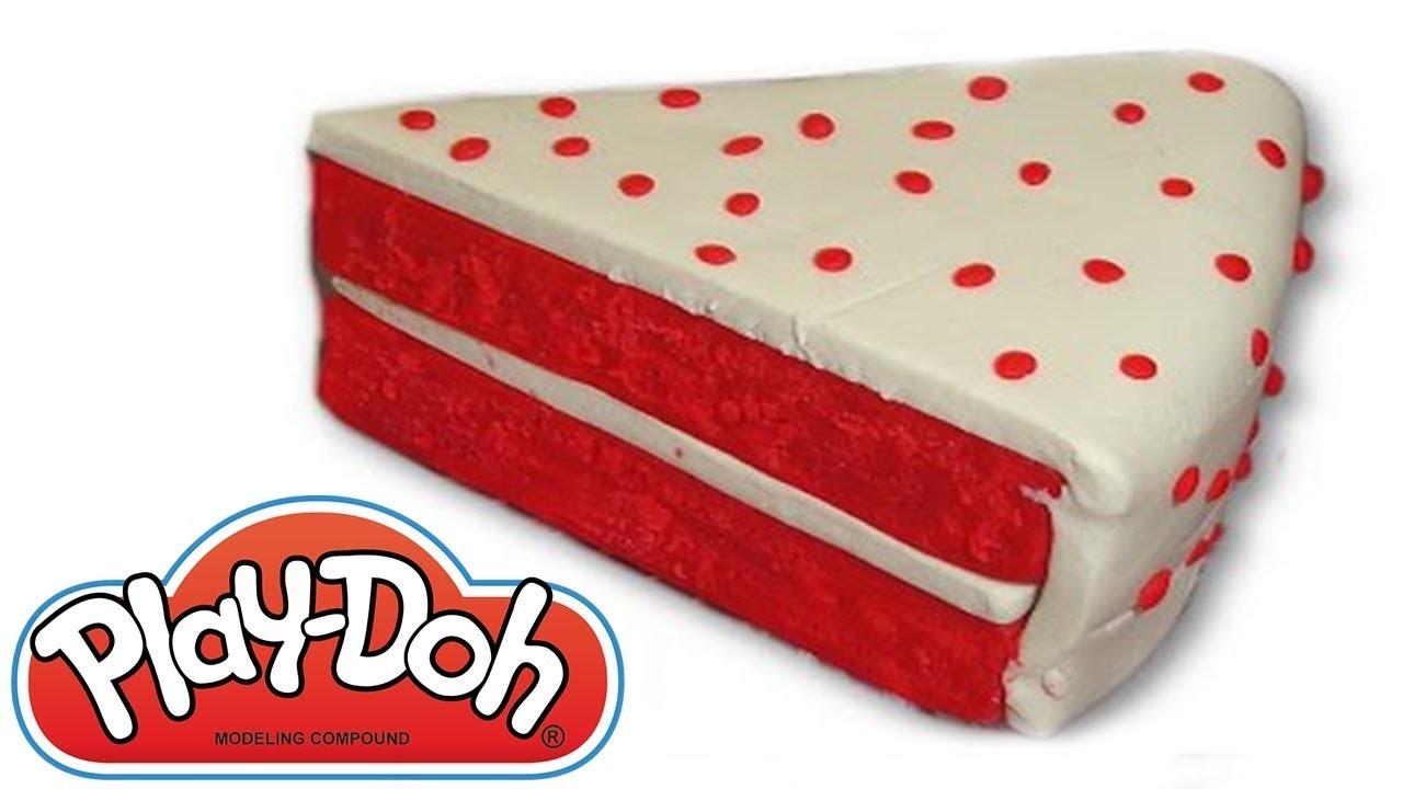 Plastilina Play Doh - Como hacer Tarta Red Velvet ᴴᴰ ❤️ Manualidades para Niños