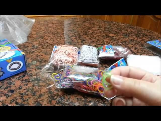 [Rainbow Loom] Almacenaje de gomas + tutorial pulsera flor New 2014