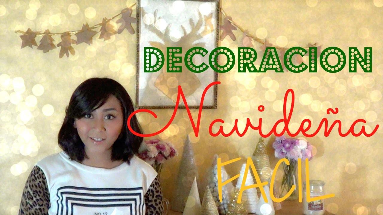 Decoración Navideña Fácil! *DIY Christmas Decor* -Decora tu Cuarto Conmigo!
