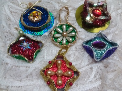 DIY Adornos Navideños hechos con latas. Christmas Ornaments out of aluminium cans