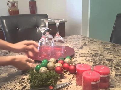 DIY CENTRO DE MESA NAVIDENO. CHRISTMAS CENTERPIECE