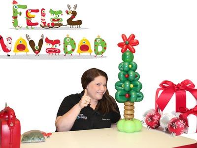Arbolito de Navidad hecho en globos. Christmas tree.