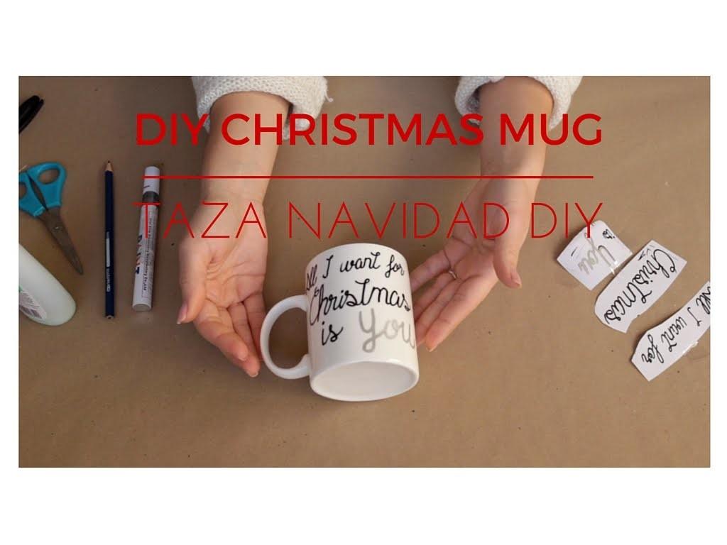 DIY Christmas Mug   Taza DIY Navidad