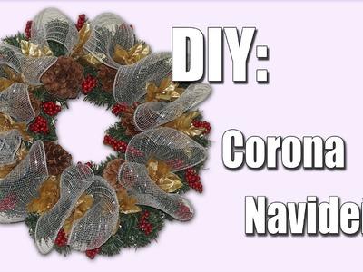 DIY: Corona Navideña Económica.Cheap Christmas Wreath!