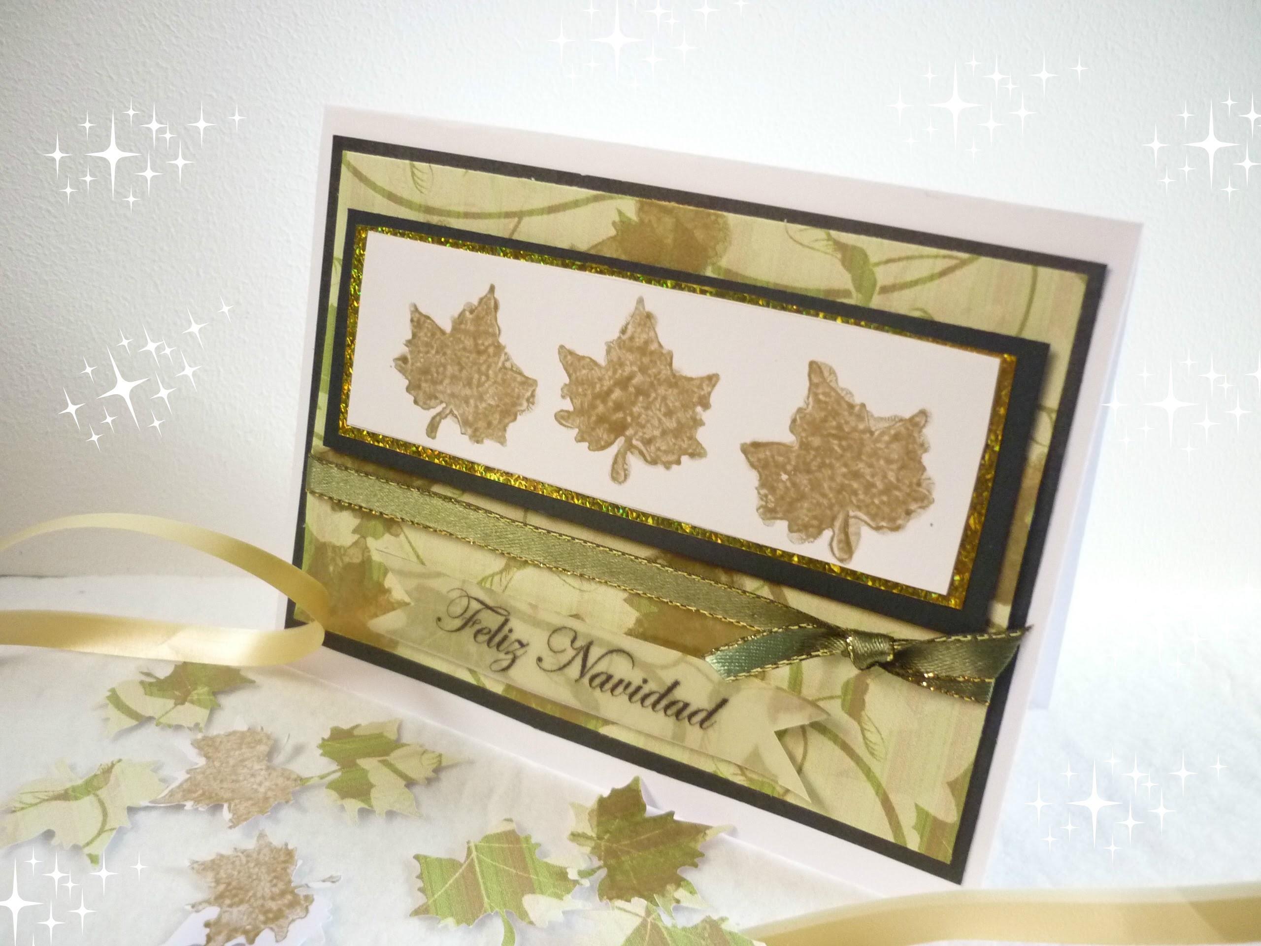Manualidades para Navidad: TARJETA de NAVIDAD DIY -   Christmas card