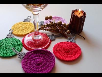 Posavasos de colores ¡NAVIDAD!  Colored coasters Christmas.cucaditasdesaluta
