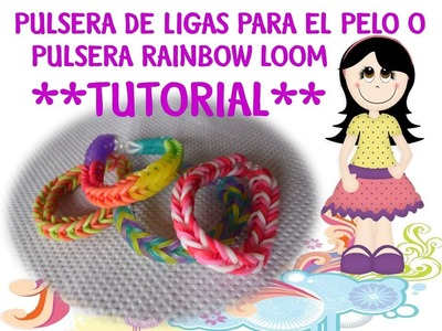 Pulsera Rainbow Loom (Pulsera de ligas para el pelo) *video tutorial*
