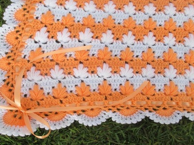Colchita o mantita para bebe tejido a crochet paso a paso video 3