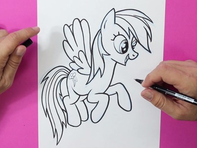 Cómo dibujar a Rainbow Dash (My Little Pony) - How to draw Rainbow Dash