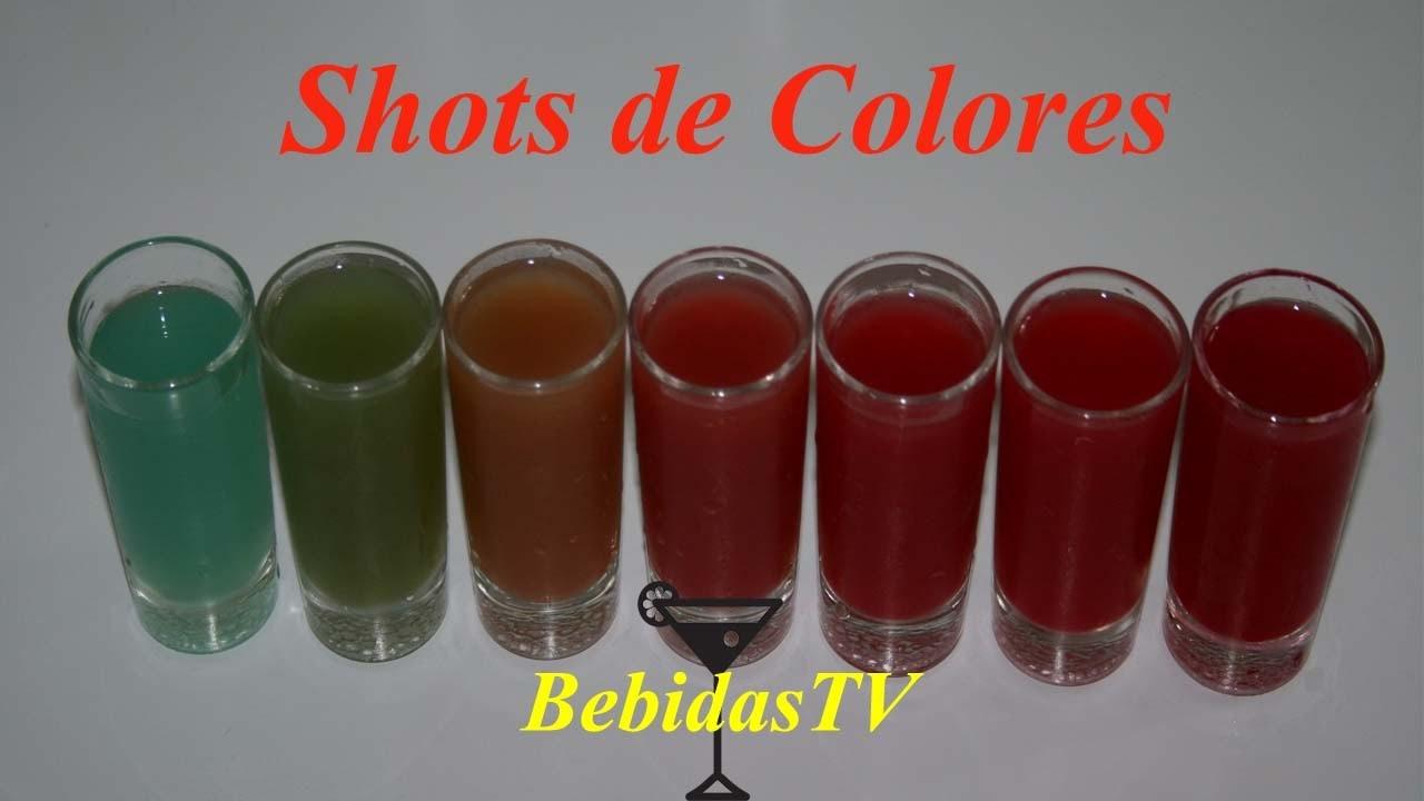 COMO HACER SHOTS DE COLORES - Rainbow Shots - BebidasTV