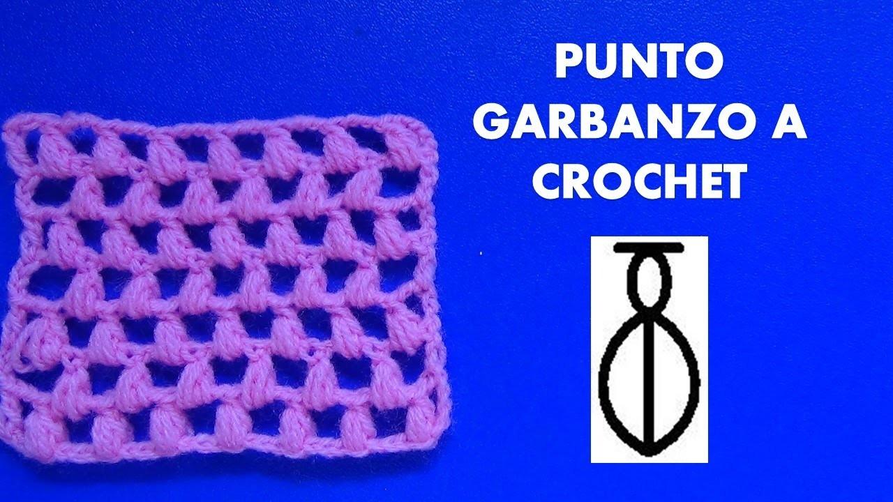 Como tejer el punto garbanzo o puff tejido a crochet