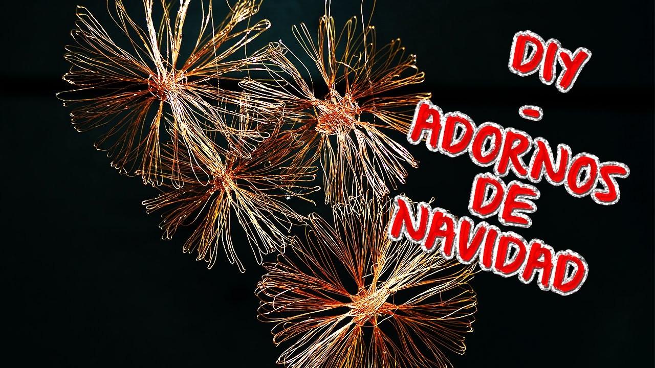 DIY - Adornos navideños de cobre - Fáciles y rápidos