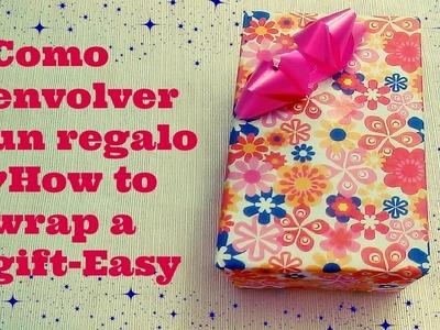 DIY: Como envolver un regalo-facil. How to wrap a gift-Easy