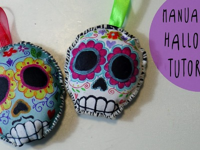Manualidad de Halloween: Calaveras Mexicanas Peluches de tejido by ART Tv