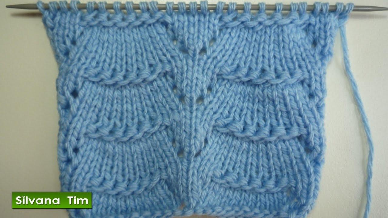 Punto puntada calado trapecio tejido con dos agujas - Puntos de dos colores a dos agujas ...