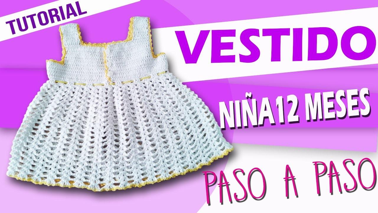 Vestido Para Niña - Tejido en crochet (Paso a Paso)