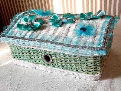 Weaving newspapers Chest periódicos de tejido del pecho cómo hacer un cesto con papel de periodico