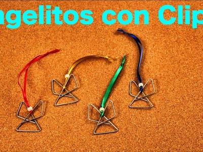 Cómo hacer Angelitos con clips para adorno navideño - Manualidades - DIY