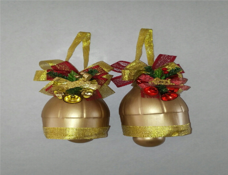 Como hacer campanas de navidad con botellas de plastico tutorial manualiades DIY