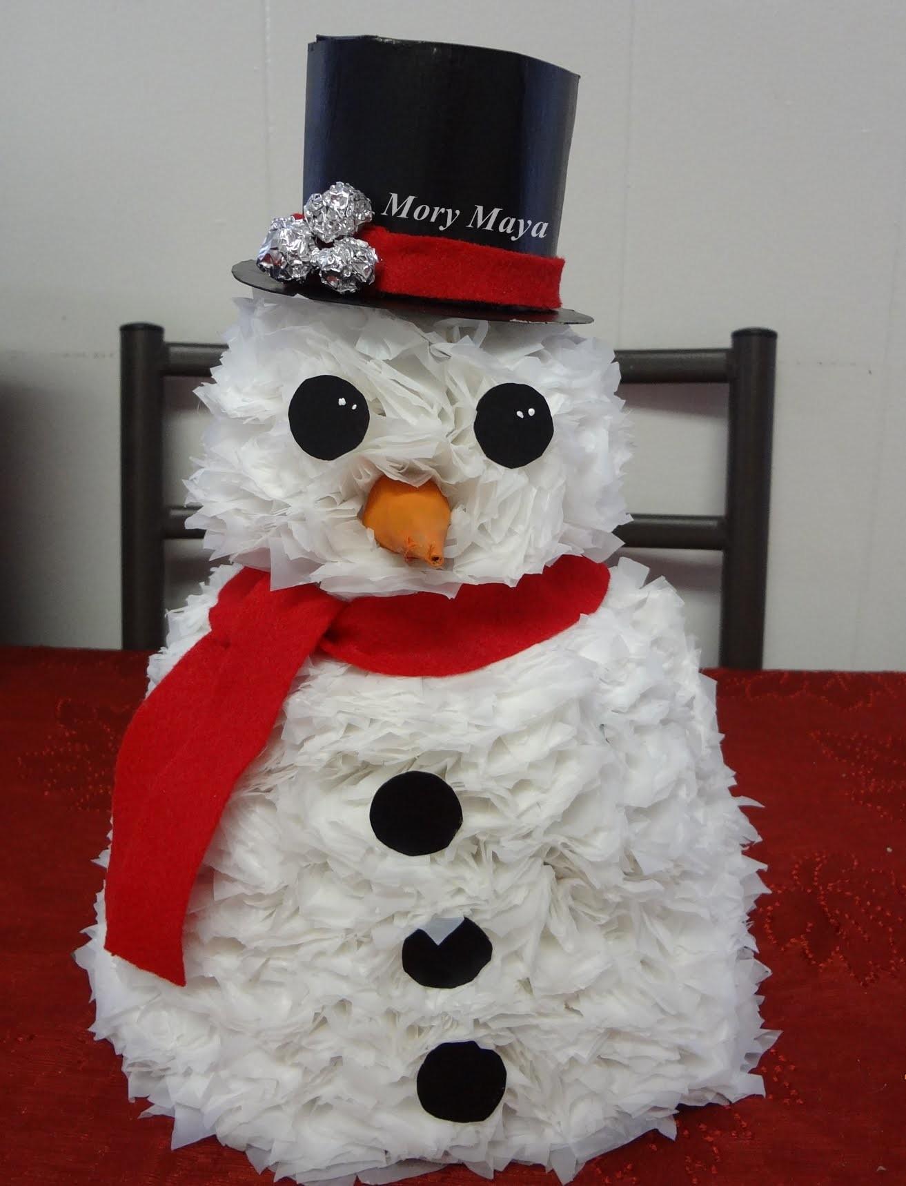 Como hacer un arbolito de navidad muñeco de nieve. DIY snowman tree