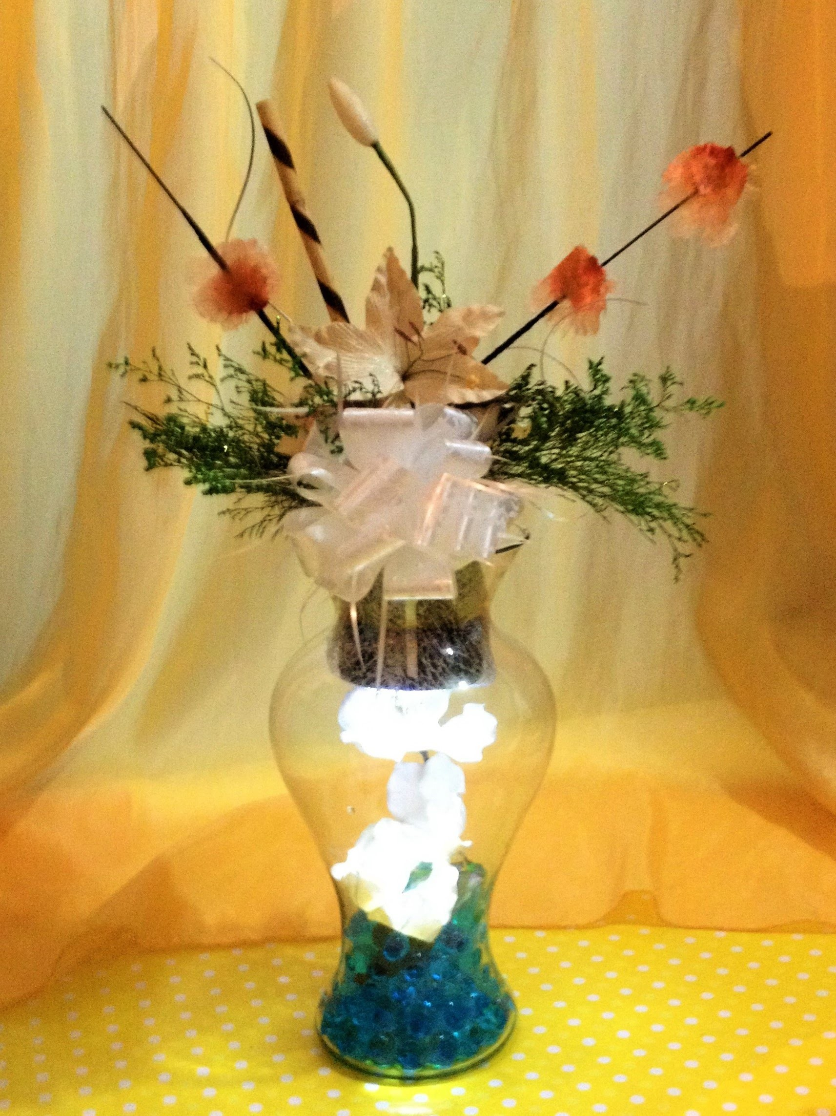 DIY centro de mesa boda XV años elegante fácil lámpara center wedding table lamp