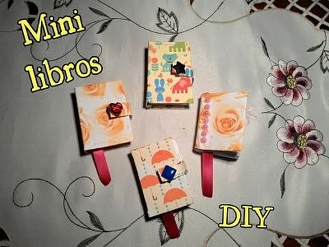 DIY cómo hacer un MINI LIBRO.How to make a  minibook