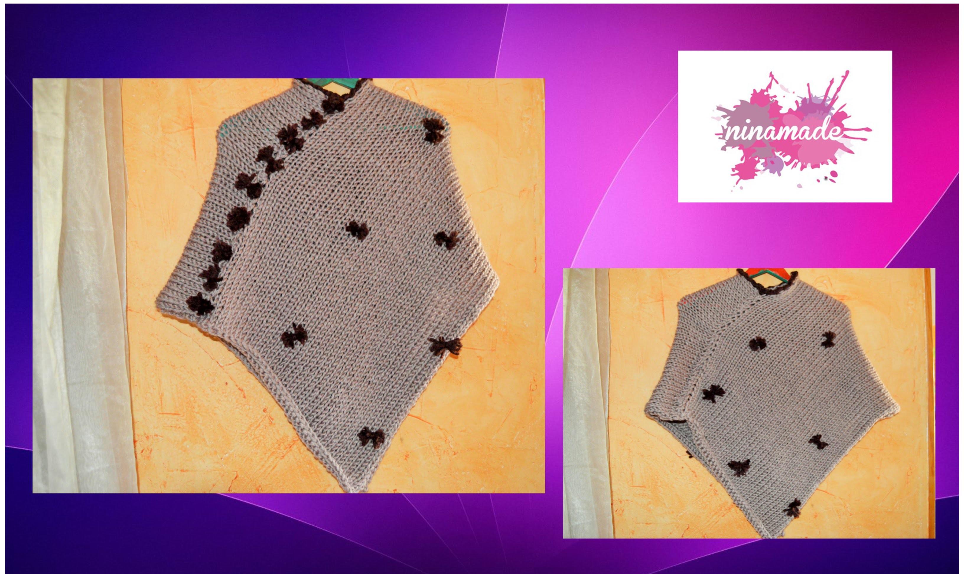 DIY. Como tejer un poncho.Muy fácil!.As weaving a poncho.Very easy!