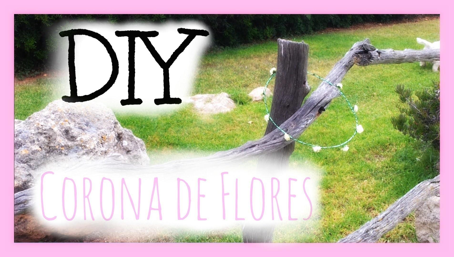 DIY: Corona de flores || Flower crown