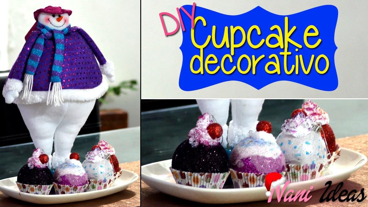 DIY Cupcake Navideño - Nani Ideas