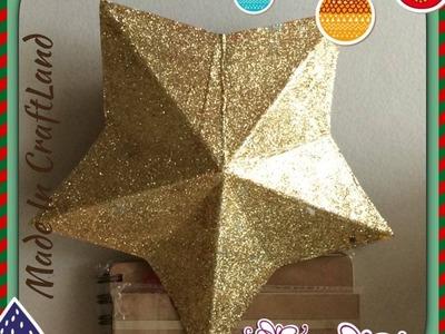 DIY. Estrella para árbol de navidad con carton
