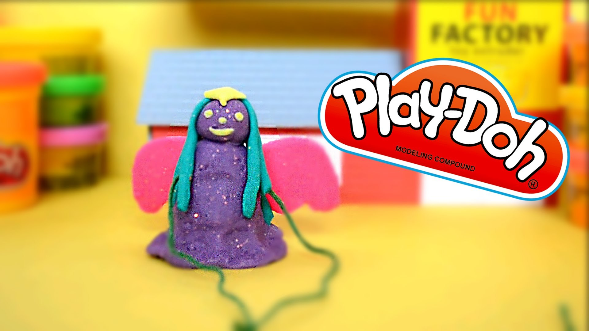 DIY Play-Doh Angel Ornament