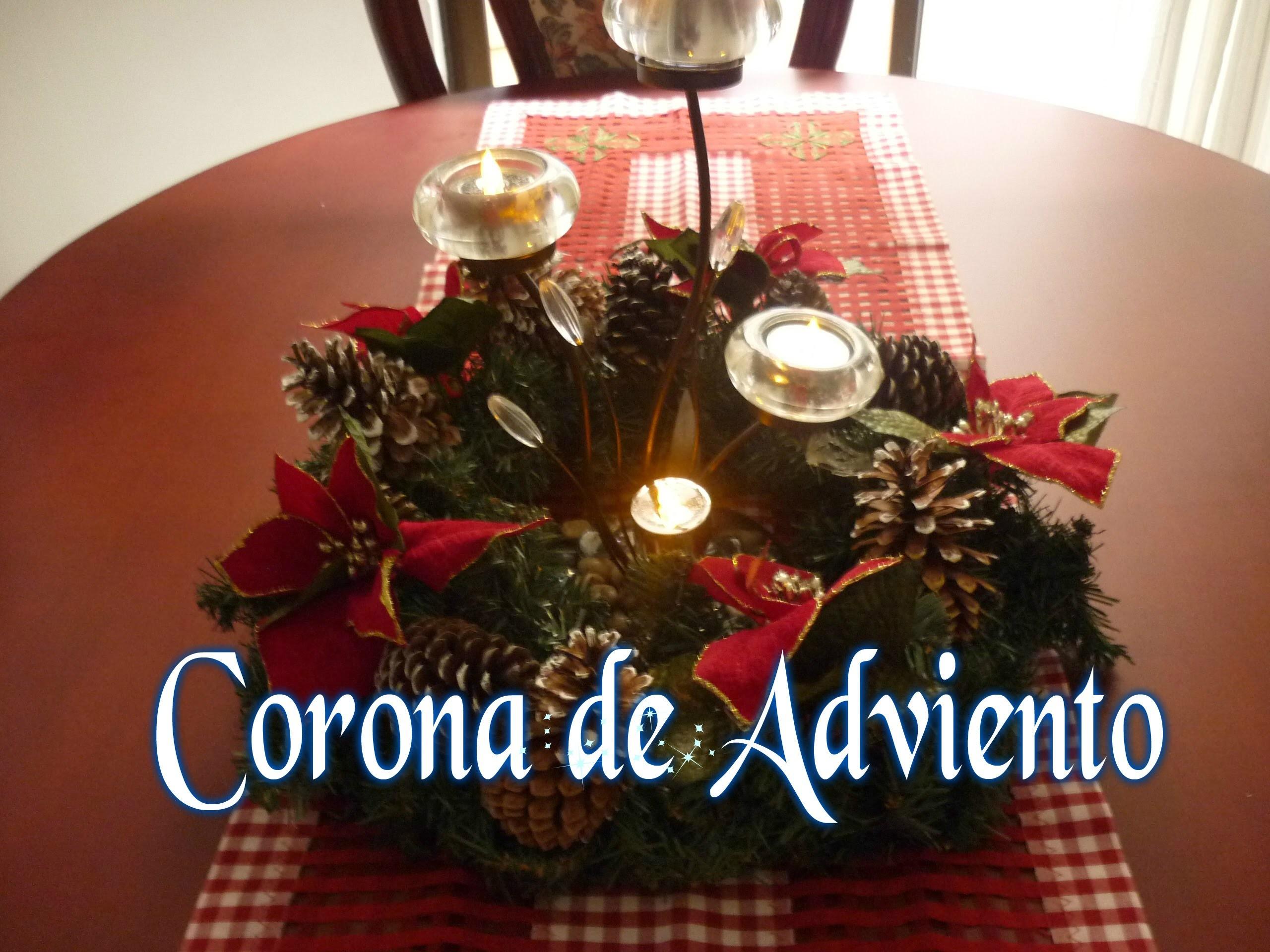 Manualidades para Navidad:  DIY COMO hacer CORONA de ADVIENTO - Advent Wreath Making